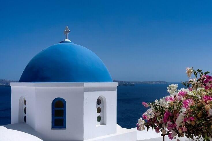 Modrá strecha, zaujímavosť z Grécka