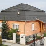 Manzardová strecha – Antracitovo-šedá krytina