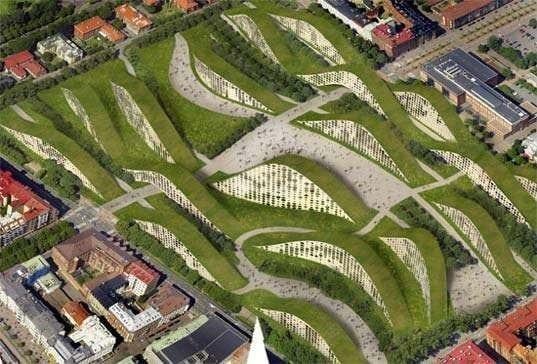 Zelené sídlisko v švédskom meste Gothenburg