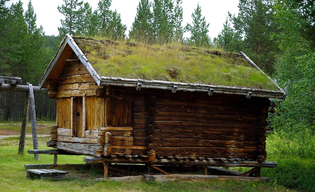zelena-strecha-chalupka-drevenica-dreveny-dom