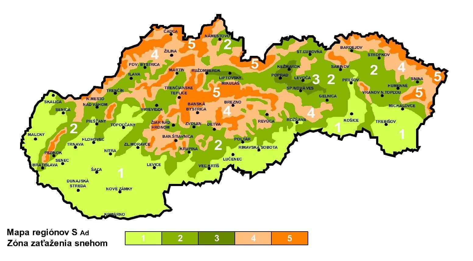 Snehová mapa Slovenska