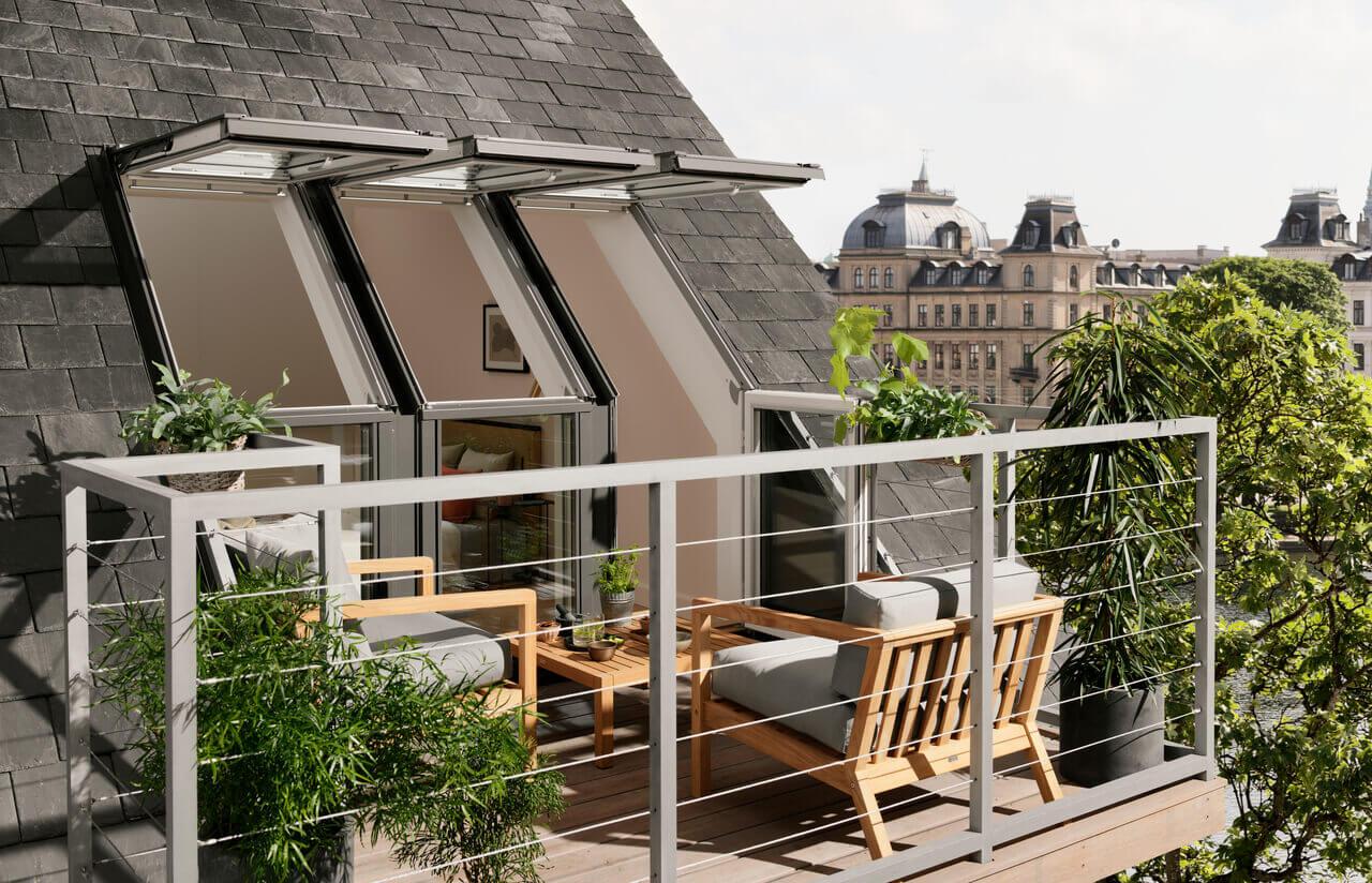 Inšpirácia: Strešný balkón a balkón na streche