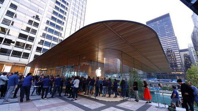 apple obchod chicago strecha